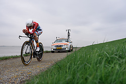 Christine Majerus (Boels Dolmans) at Omloop van Borsele Time Trial 2016. A 19.9 km individual time trial starting and finishing in 's-Heerenhoek, Netherlands on 22nd April 2016.