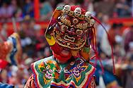 Mask dance performance at Tshechu Festival, Thimphu Dzong, Bhutan