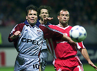 Fotball<br /> Foto: imago/Digitalsport<br /> NORWAY ONLY<br /> <br /> 17.03.1999  <br /> <br /> Lothar Matthäus (Bayern, li.) gegen Uwe Rösler (1.FCK)