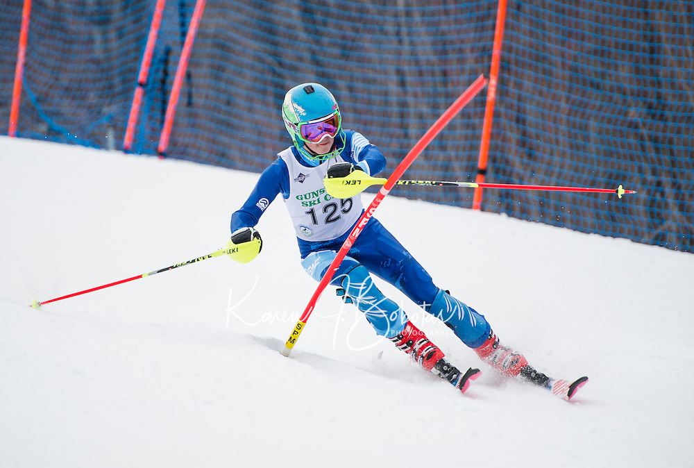 Cliff Nyquist memorial slalom with Gunstock Ski Club.<br /> ©2017 Karen Bobotas Photographer
