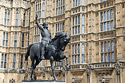 Statue of Richard I outside Westminster