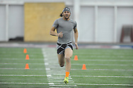 Former Ole Miss defensive back Cody Prewitt runs the 40-yard dash during Pro Day at the Manning Center, in Oxford, Miss. on Thursday, March 5, 2015.