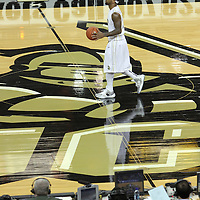 Central Florida guard Marcus Jordan (5) dribbles during a Conference USA NCAA basketball game between the Marshall Thundering Herd and the Central Florida Knights at the UCF Arena on January 5, 2011 in Orlando, Florida. Central Florida won the game 65-58 and extended their record to 14-0.  (AP Photo/Alex Menendez)