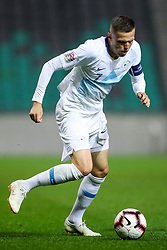 Josip Ilicic of Slovenia during football match between National Teams of Slovenia and Cyprus in Final Tournament of UEFA Nations League 2019, on October 16, 2018 in SRC Stozice, Ljubljana, Slovenia. Photo by  Morgan Kristan / Sportida