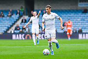 Leeds United defender Ezgjan Alioski (10) in action during the EFL Sky Bet Championship match between Millwall and Leeds United at The Den, London, England on 5 October 2019.