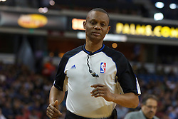 Jan 8, 2012; Sacramento, CA, USA; NBA referee Michael Smith (38) during the first quarter between the Sacramento Kings and the Orlando Magic at Power Balance Pavilion. Orlando defeated Sacramento 104-97. Mandatory Credit: Jason O. Watson-US PRESSWIRE