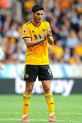 Raul Jimenez of Wolverhampton Wanderers gestures- Mandatory by-line: Nizaam Jones/JMP- 16/09/2018 - FOOTBALL - Molineux - Wolverhampton, England - Wolverhampton Wanderers v Burnley - Premier League
