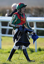 Jockey Tom Schudamore - Photo mandatory by-line: Harry Trump/JMP - Mobile: 07966 386802 - 17/02/15 - SPORT - Equestrian - Horse Racing - Taunton Racecourse, Somerset, England.