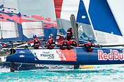 The Great Sound, Bermuda, 21st June 2017, Red Bull Youth America's Cup Finals. Race four. Team France Jeune.