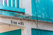With few of the advanced technology of today in Belize, it was interesting to see this small hotel pitch their wifi.