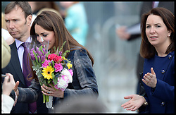 The Duchess of Cambridge with Rebecca Deacon her Private Secretary on a visit with the Duchess to Glasgow, Scotland, April 4, 2013. Photo By Andrew Parsons / i-Images