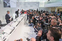 10.03.2015, Audi Forum, Ingolstadt, GER, AUDI AG Jahrespressekonferenz, im Bild Rupert Stadler, Vorstandsvorsitzender der AUDI AG praesentiert sich den Pressefotografen // during AUDI AG Annual Press Conference at the Audi Forum in Ingolstadt, Germany on 2015/03/10. EXPA Pictures © 2015, PhotoCredit: EXPA/ Eibner-Pressefoto/ Strisch<br /> <br /> *****ATTENTION - OUT of GER*****