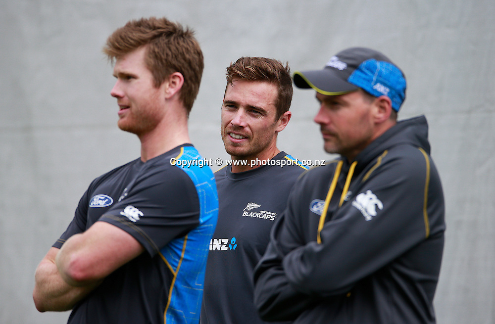Tim Southee during a Black Caps nets session at Hagley Oval, Christchurch. 24 December 2014 Photo: Joseph Johnson / www.photosport.co.nz