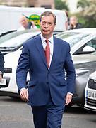 Brexit Party launch event<br /> Nigel Farage and Richard Tice, party chairman launch the next tranche of Brexit Party candidates at an event in London, Great Britain <br /> House Terrace<br /> 23rd April 2019<br /> <br /> Nigel Farage arrives for press conference <br /> <br /> New candidates standing for the Brexit Party in the European Parliament Elections in May 2019 <br /> <br /> Lance Forman <br /> Businessman and owner of H.Forman and Son <br /> <br /> Christina Jordan<br /> Former nurse and community leader <br /> <br /> Matthew Patten <br /> Charity Leader and CEO <br /> <br /> James Glancy <br /> Veteran and broadcaster <br /> <br /> Claire Fox<br /> Writer, free speech campaigner <br /> <br /> Photograph by Elliott Franks