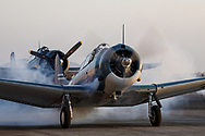 SBD Dauntless of Erickson Aircraft Collection starting for an aerial demonstration.