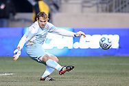 15 December 2013: Notre Dame's Patrick Wall. The University of Maryland Terripans played the University of Notre Dame Fighting Irish at PPL Park in Chester, Pennsylvania in a 2013 NCAA Division I Men's College Cup championship match. Notre Dame won the game 2-1.