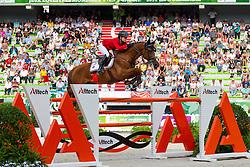 Lucy Davis, (USA), Barron - World Champions, - Second Round Team Competition - Alltech FEI World Equestrian Games™ 2014 - Normandy, France.<br /> © Hippo Foto Team - Leanjo De Koster<br /> 25/06/14