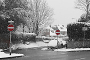 Scenery in Seaford, East Sussex on a snowy day in January 2013