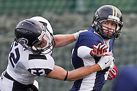 Brighton Tsunami (0) v Hertfordshire Hurricanes (58) at University of Brighton, Falmer Campus on Sunday 30 November 2014 playing in the British Universities and Colleges Sport (BUCS) American Football National Championship - Premier South