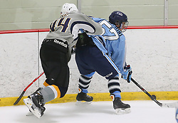 Marlborough, MA, USA - August 30, 2014: NJ Hitmen vs NH Avalanche Prep at the Tier 1 Hockey Tournament at the New England Sports Center.
