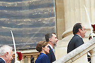 King Felipe VI of Spain, Queen Letizia of Spain and France Presidente François Hollande attend the Opening Expo 'Velazquez and the triumph of Spanish painting' at Grand Palais on June 2nd, 2015 in Paris