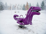 06 DECEMBER 2008 -- MINNETONKA, MN: An empty playground in Minnetonka, MN, after an overnight snowfall. PHOTO BY JACK KURTZ