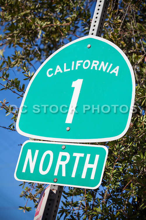 California Highway One State Route Signage