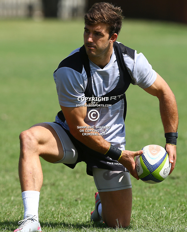 DURBAN, SOUTH AFRICA, 4 April, 2016 - Paul Jordaan during The Cell C Sharks training session  at Growthpoint Kings Park in Durban, South Africa. (Photo by Steve Haag)<br /> images for social media must have consent from Steve Haag
