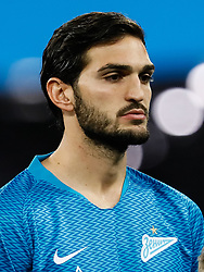 February 21, 2019 - Saint Petersburg, Russia - Magomed Ozdoyev of FC Zenit Saint Petersburg looks on during the UEFA Europa League Round of 32 second leg match between FC Zenit Saint Petersburg and Fenerbahce SK on February 21, 2019 at Saint Petersburg Stadium in Saint Petersburg, Russia. (Credit Image: © Mike Kireev/NurPhoto via ZUMA Press)