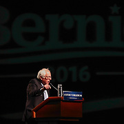 Senator Bernie Sanders speaks in Wilmington Saturday. April. 23, 2016, at The Case Center on The River Front in Wilmington Delaware.