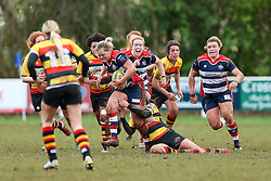 Poppy Leitch of Bristol Ladies in action - Rogan Thomson/JMP - 15/01/2017 - RUGBY UNION - Cleve RFC - Bristol, England - Bristol Ladies Rugby v Richmond WRFC - RFU Women's Premiership.