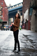 Fashion and lifestyle editorial photo shoot in NYC with a model
