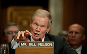 May 11,2010 - Washington, District of Columbia USA - Senator Ben Nelson (D-FL) testifies during a Senate Environment and Public Works Committee Hearing on Issues in Offshore Oil Drilling. Nelson was one of five Senators testifying before the committee about the impact of the accident in the Gulf of Mexico involving the offshore oil rig Deepwater Horizon.(Credit Image: © Pete Marovich/ZUMA Press)