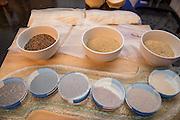 QUINOA, Chenopodium quinoa Showcase: 'Mint Vanilla'<br />Breeder: Frank Morton, Wild Garden Seed Chef: Andrew Mace, Han Oak<br />Dish: Sprouted quinoa and scallion pancake