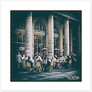 Café Le Nemours, Paris - Colour version. Inkjet pigment print on Canson Infinity Rag Photographique 310gsm 100% cotton museum grade Fine Art and photo paper.<br />