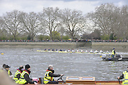 Putney, GREAT BRITAIN,   Isis, Goldie Race along the Fulham Wall 'Championship Course' Putney to Mortlake, on the River Thames, Sun.29.03.2009. [Mandatory Credit, Peter Spurrier / Intersport-images]