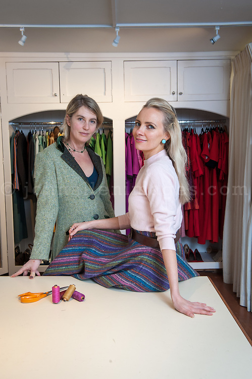 Designers Charlotte and Jane in their Kinsale Studio.<br /> Picture. John Allen