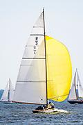 Ruweida sailing at the Herreshoff Classic Yacht Regatta.