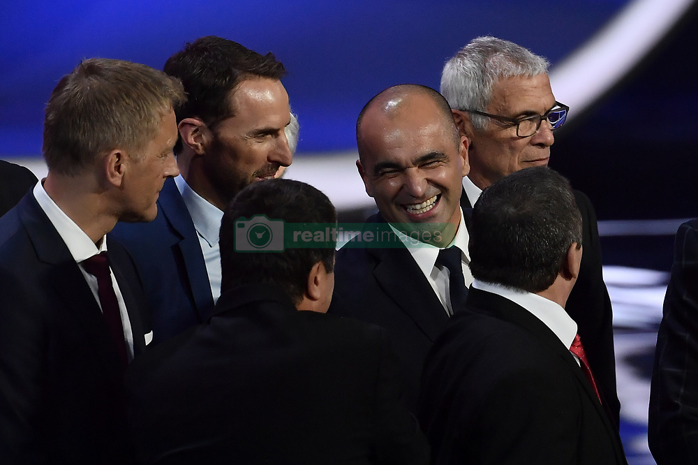 December 1, 2017 - Moscow, RUSSIA - England head coach Gareth Southgate and Belgium's head coach Roberto Martinez pictured during the draw for the 2018 World Cup soccer in Moscow, with Belgium team in pot one, Russia, Friday 01 December 2017...BELGA PHOTO DIRK WAEM (Credit Image: © Dirk Waem/Belga via ZUMA Press)