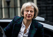 UNITED KINGDOM, London: 17 November 2015 Theresa May Secretary of State for the Home Department arrives to attend Cabinet Meeting at 10 Downing Street in London, England. Picture by Andrew Cowie / Story Picture Agency