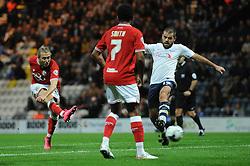 Luke Freeman of Bristol City takes a shot at goal - Mandatory byline: Dougie Allward/JMP - 07966386802 - 15/09/2015 - FOOTBALL - Deepdale Stadium -Preston,England - Bristol City v Preston North End - Sky Bet Championship