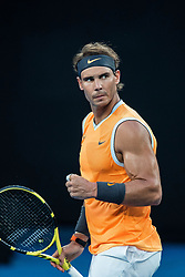 January 24, 2019 - Melbourne, VIC, U.S. - MELBOURNE, VIC - JANUARY 24: RAFAEL NADAL (ESP) during day eleven match of the 2019 Australian Open on January 24, 2019 at Melbourne Park Tennis Centre Melbourne, Australia (Photo by Chaz Niell/Icon Sportswire (Credit Image: © Chaz Niell/Icon SMI via ZUMA Press)