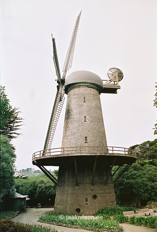 Windmill in Golden Gate Park, San Francisco, California, USA