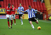 Sheffield Wednesday defender Daniel Pudil setting up an attack during the Sky Bet Championship match between Charlton Athletic and Sheffield Wednesday at The Valley, London, England on 7 November 2015. Photo by Matthew Redman.