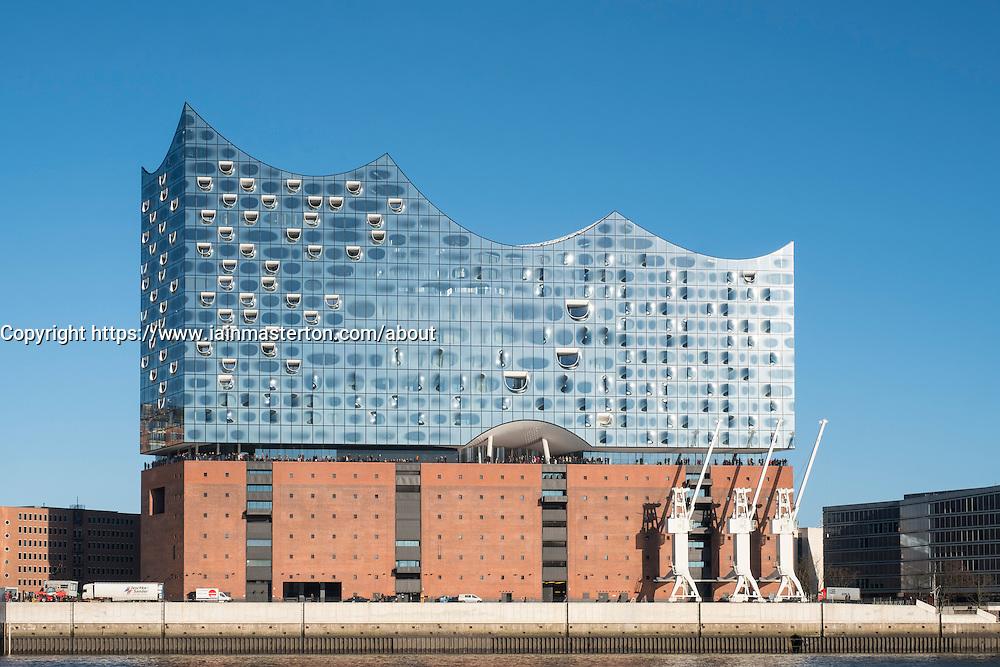 Elbphilharmonie, Hamburg, Germany; View of new Elbphilharmonie opera house in Hamburg, Germany.