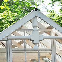Vintage garden: Old house gable decoration