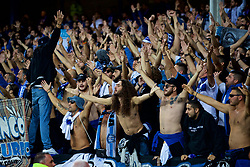 LIVERPOOL, ENGLAND - Thursday, September 28, 2017: Apollon Limassol supporters during the UEFA Europa League Play-Off 1st Leg match between Everton and Apollon Limassol FC at Goodison Park. (Pic by David Rawcliffe/Propaganda)
