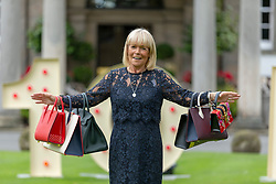 A hundred guests including celebrities, Christopher Biggins, Linda Robson and Bjorn Again take part in the Princes Trust fund-raising event, Lunch with an Old Bag.<br /> <br /> 2018 marks Scotland&rsquo;s Year of Young People and is Lunch with an Old Bag&rsquo;s 10th anniversary - last year the event raised over &pound;700,000. The bags being auctioned this year include a &pound;24,000 Hermes handbag<br /> <br /> Pictured: Linda Robson with a selection of the bags being auctioned
