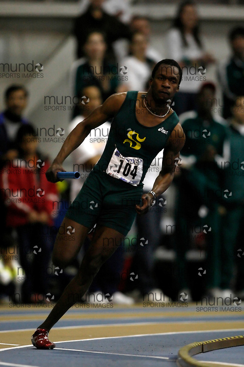 Windsor, Ontario ---14/03/09--- Ben Youssef Meit? of  Universite de Sherbrooke competes in the 4x400m relay at the CIS track and field championships in Windsor, Ontario, March 14, 2009..Claus Andersen Mundo Sport Images