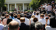 President Donald Trump announces his decision on the Paris Agreement.  The announcement was made in the White House Rose Garden on May 31, 2017 <br />